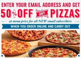 jobs at domino s pizza 50 off online order domino s 50 off any pizza restaurant deals pinterest