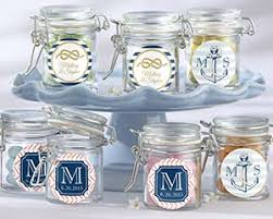 wedding favor jars personalized glass favor jars nautical wedding personalized
