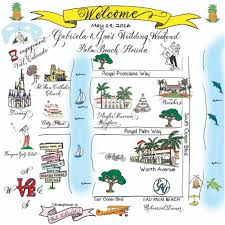 Map Of Palm Beach Florida by Wedding Maps U2014 Carla Hagan Calligraphy Engraving And Designs