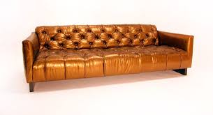 long tufted sofa tufted gold leather sofa at 1stdibs