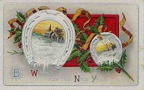 new year post card free clip from vintage crafts archive free