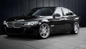 bmw car in black colour bmw 7 saloon