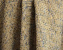 Gold And Blue Curtains Jute Curtains Etsy