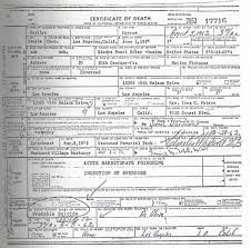 marilyn u0027s death certificate death certificate pinterest