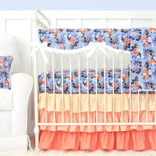Navy And Coral Crib Bedding Nat Navy And Coral Crib Bedding Set By Caden