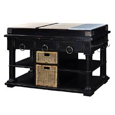 spectacular distressed kitchen island butcher block with black