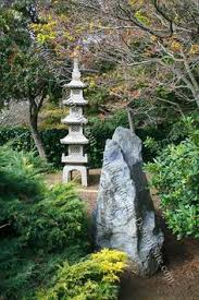 earth elements in japanese zen garden ornaments plus bamboo as a