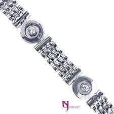 men white gold bracelet images Men 39 s 1 carat round brilliant diamond bracelet 14k solid white jpg