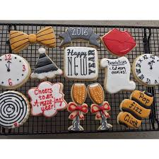 New Year S Decorated Cookies by