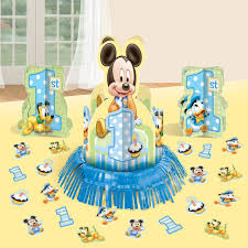 Mickey Mouse Table by Mickey Mouse Boys First Birthday Party Supplies Birthday Wikii