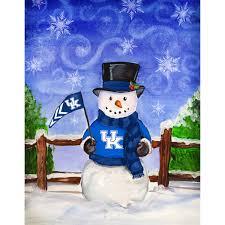 Kentucky Flags University Of Kentucky Snowman House Flag Walmart Com