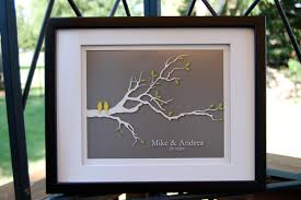 personalized wedding items personalized wedding gift birds family tree branch