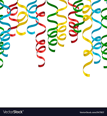 party streamers background royalty free vector image
