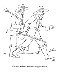 the pilgrims coloring pages pilgrims needed wood and food
