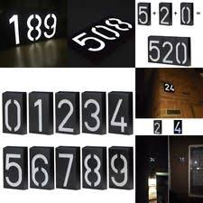 Solar Powered Address Light - lighted house numbers ebay