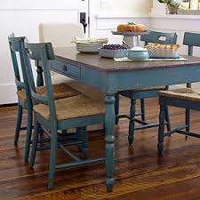 love the distressed turquoise camille kitchen dining table