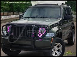 white and pink jeep oracle 08 13 jeep liberty led dual color halo rings headlights bulbs