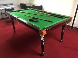 pot black 6 u0027 foot by 4 u0027 foot snooker pool table with balls cues