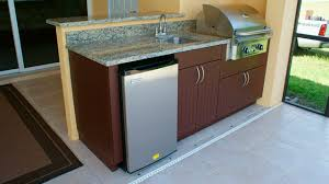 Weatherproof Outdoor Kitchen Cabinets - weatherproof polymer cabinetry in pictures of outdoor kitchen