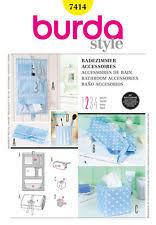 Bathroom Makeup Organizers Burda Sewing Pattern 7414 Bathroom Accessories Ebay