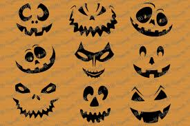 pumpkin face svg svg halloween