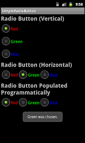 android radio button android user interface design radio buttons
