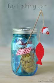 give a go fishing jar to inspire to outdoors or give