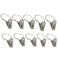10pcs metal hooks window curtain rod clip drapery clips rings ad