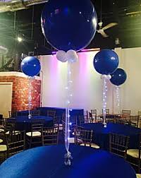 blue centerpieces balloon centerpieces decora events toronto