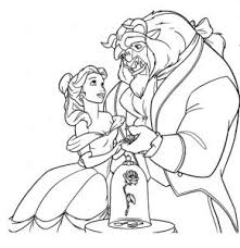 belle beauty beast coloring pages cartoon download