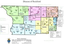 Map Of Chicago Illinois by Map Of The Diocese U2013 Diocese Of Rockford