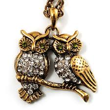 long gold owl necklace images Long pendants jpg