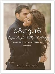save the date announcements clear beauty signature white photo save the date cards float