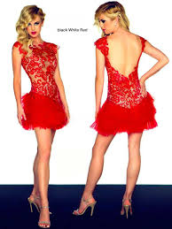 style no n226 red color lace top feather dress evening dress party