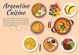 cuisine argentine dinner of argentine cuisine with cazuela and seafood empanadas