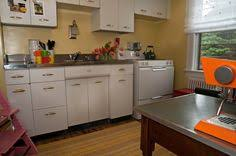 repainting metal kitchen cabinets steel kitchen cabinets entrancing retro metal kitchen cabinets