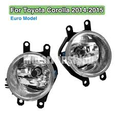 toyota products pair fog lamp light for drl toyota corolla altis euro model 2014