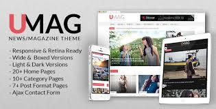 umag news magazine u0026 blog template by alia themeforest
