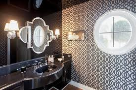 always in trend 20 powder rooms in black and white interior