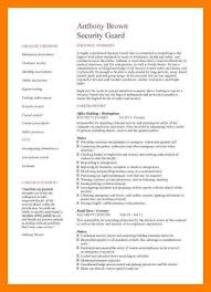 Security Officer Resume 8 Resume For Security Guard Self Introduce