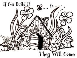 fairy houses coloring pages google search paper crafts