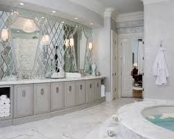 mirror tiles for bathroom walls design decorating contemporary bathroom the beveled mirror wall