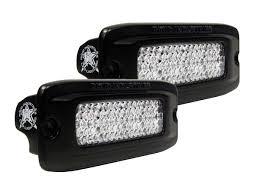 led bumper backup lights sr q pro backup kit pair flush white black rigid industries