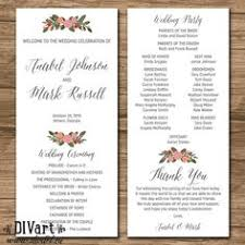 sle of wedding programs ceremony wedding invitation suite response card monogram printable