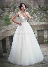 plain wedding dresses sweetheart neckline ivory lace plain tulle wedding dress
