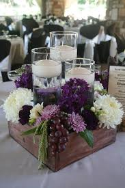wedding decorating ideas extraordinary purple centerpieces for wedding tables 83 for