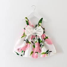 Muito Vestidos Para Meninas Bonito Arco Bebê Menina Vestido Estampado  &FU55
