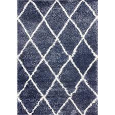 Blue Shaggy Rug Nuloom Diamond Shag Blue 9 Ft 2 In X 12 Ft Area Rug Ozsg09e