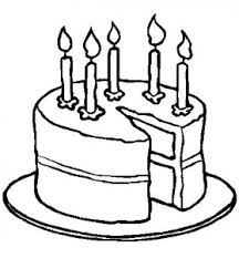 coloring page of birthday cake for girls and kids coloring point