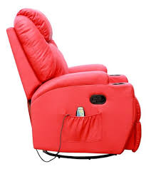 kidzmotion red leather recliner gaming chair massage heat and elect